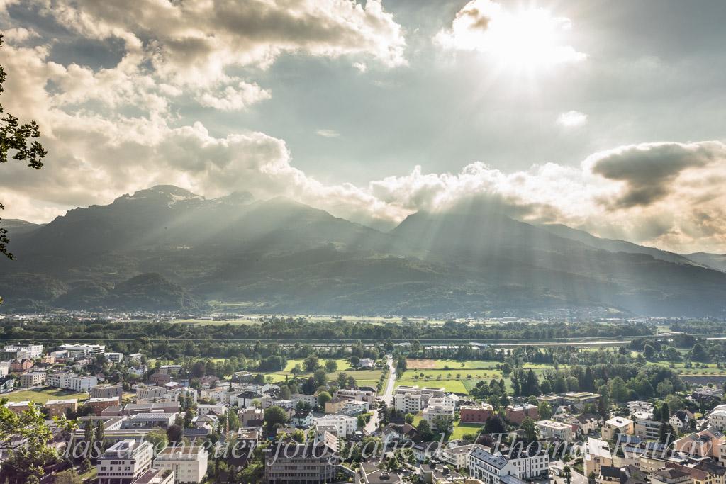 Sonne über Liechtenstein