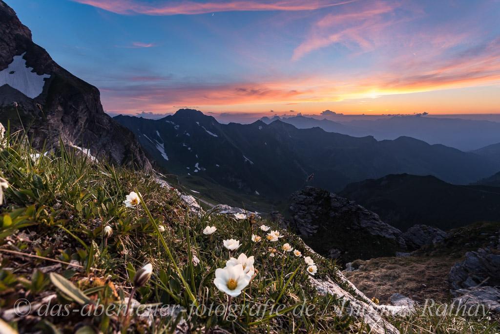 Sonnenuntergang in Liechtenstein