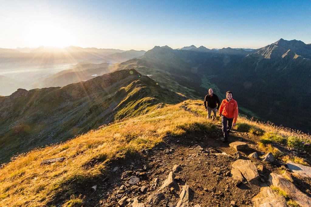 Sonnenaufgangswanderung zur Fleckner Spitze.