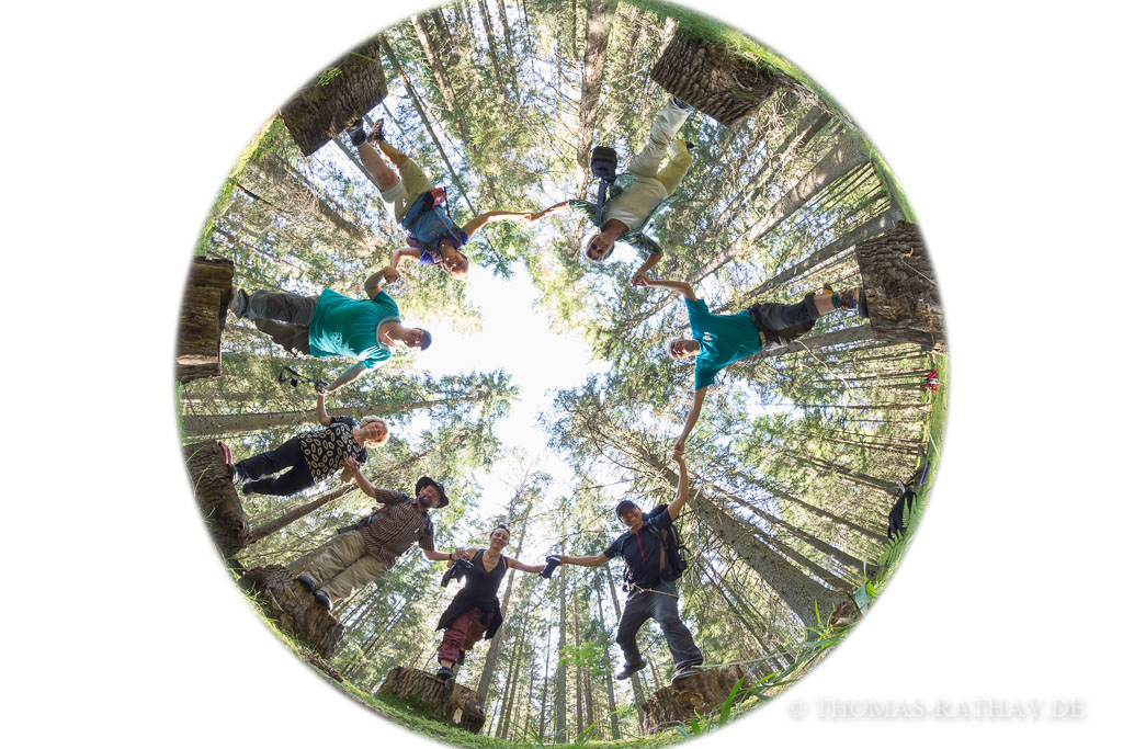 Gruppenfoto mit Anleitung