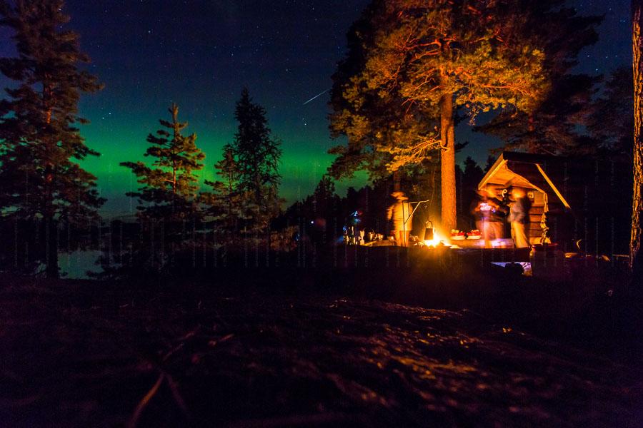 Nordlicht und Sternschnuppe Ende August