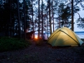 Lagerfeuerstimmung auf dem Stora Glå im Naturreservat Glåskogen.