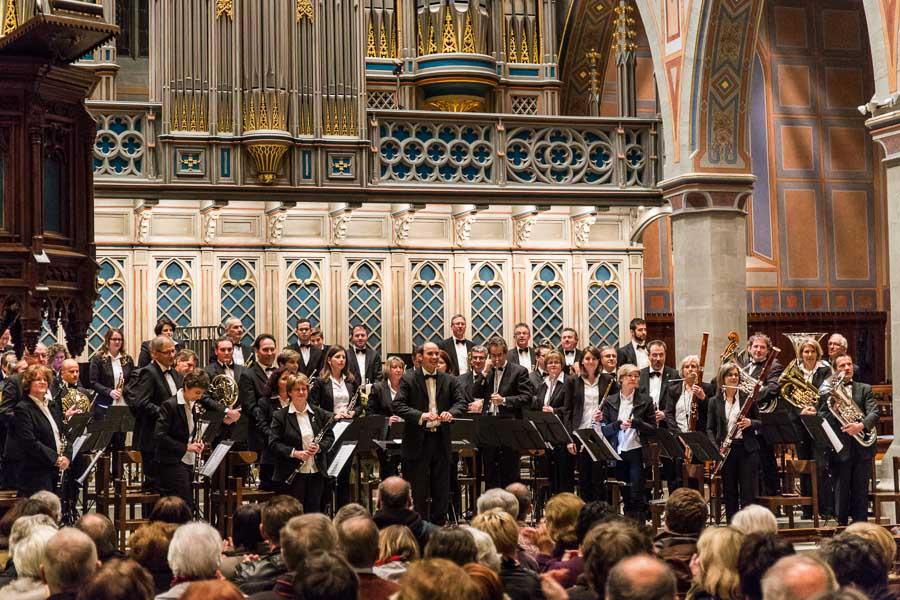 Das Konzert des Blasorchesters der Stadtmusik St. Gallen in der St. Laurenzenkirche ist gleichzeitig das Abschiedskonzert des Dirigenten Roger Meier.