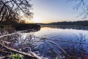 Januar: Eis auf dem Hellsee