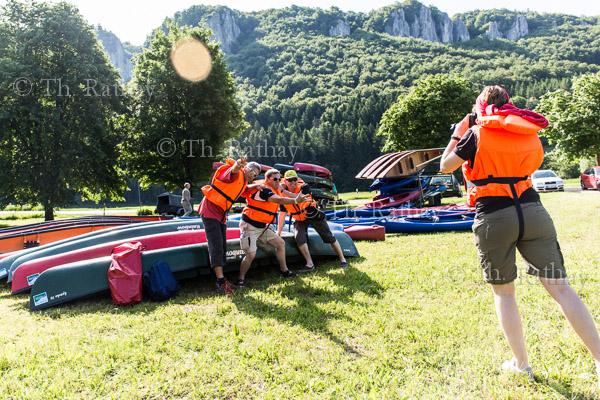 Paddeltour auf der Donau im Oberen Donautal