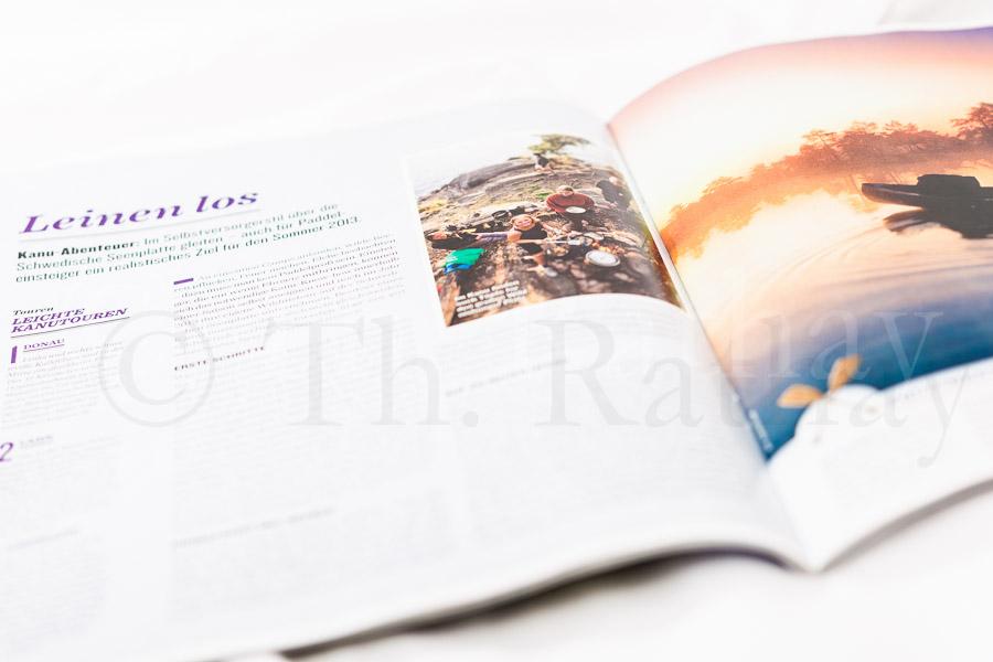 Outdoorfotografie im Magazin *OUTDOOR* - reisen-wandern-Abenteuer