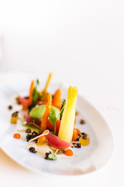 Mini-Gemüse fein angerichtet