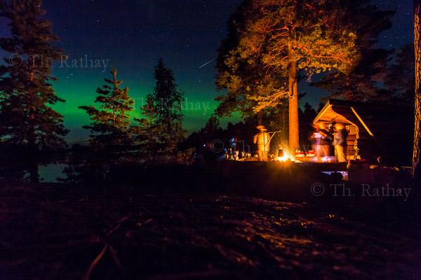 Polarlicht und Sternschnuppe