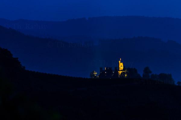 Schloss Ortenberg bei Nacht