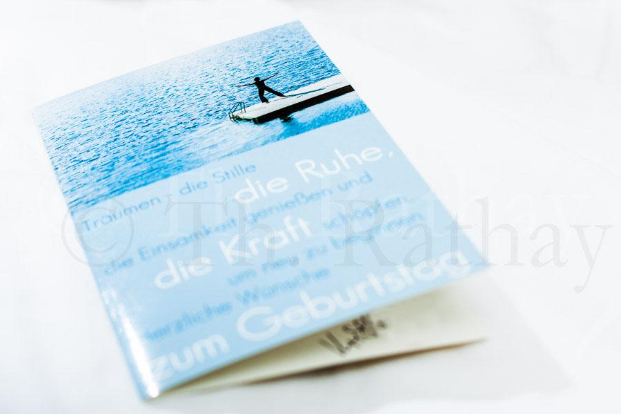 Outdoorfotografie auf einer Postkarte