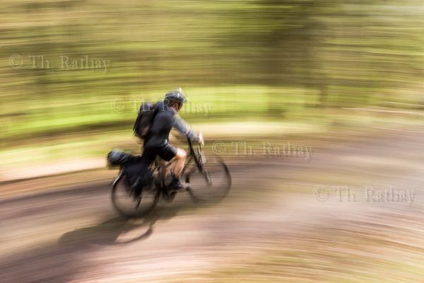 Radfahrer auf dem Murgtal-Radweg