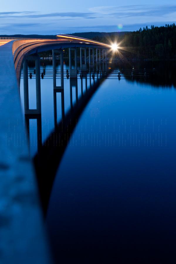 Strassenbrücke über den Glafsfjord
