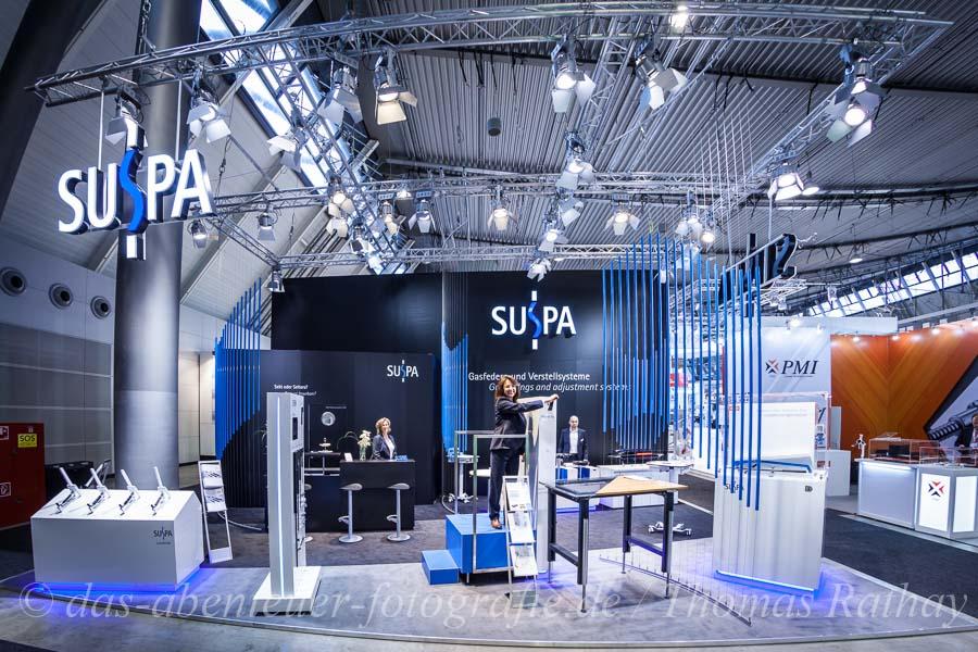 """Messestand der """"SUSPA GmbH """" auf der """"motek"""" in Stuttgart"""
