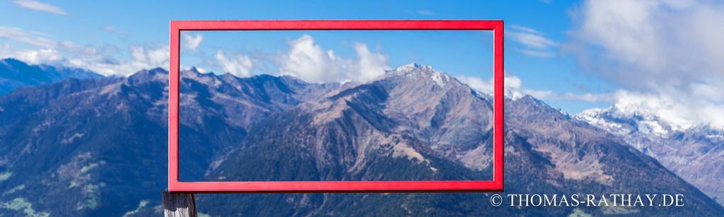 Bilderrahmen mit Alpenpanorama