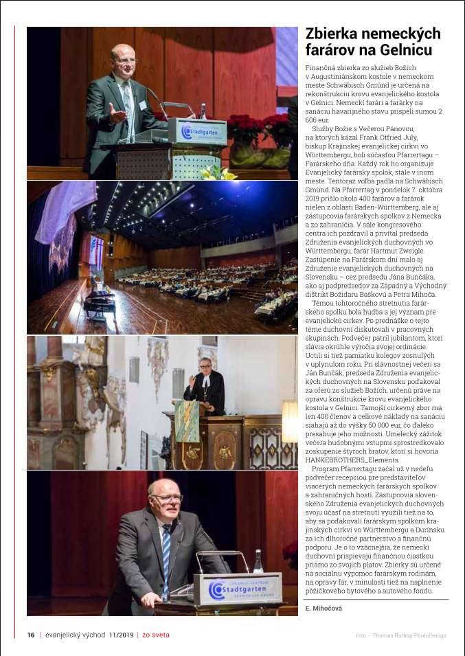 Slowakishes Kirchenblatt