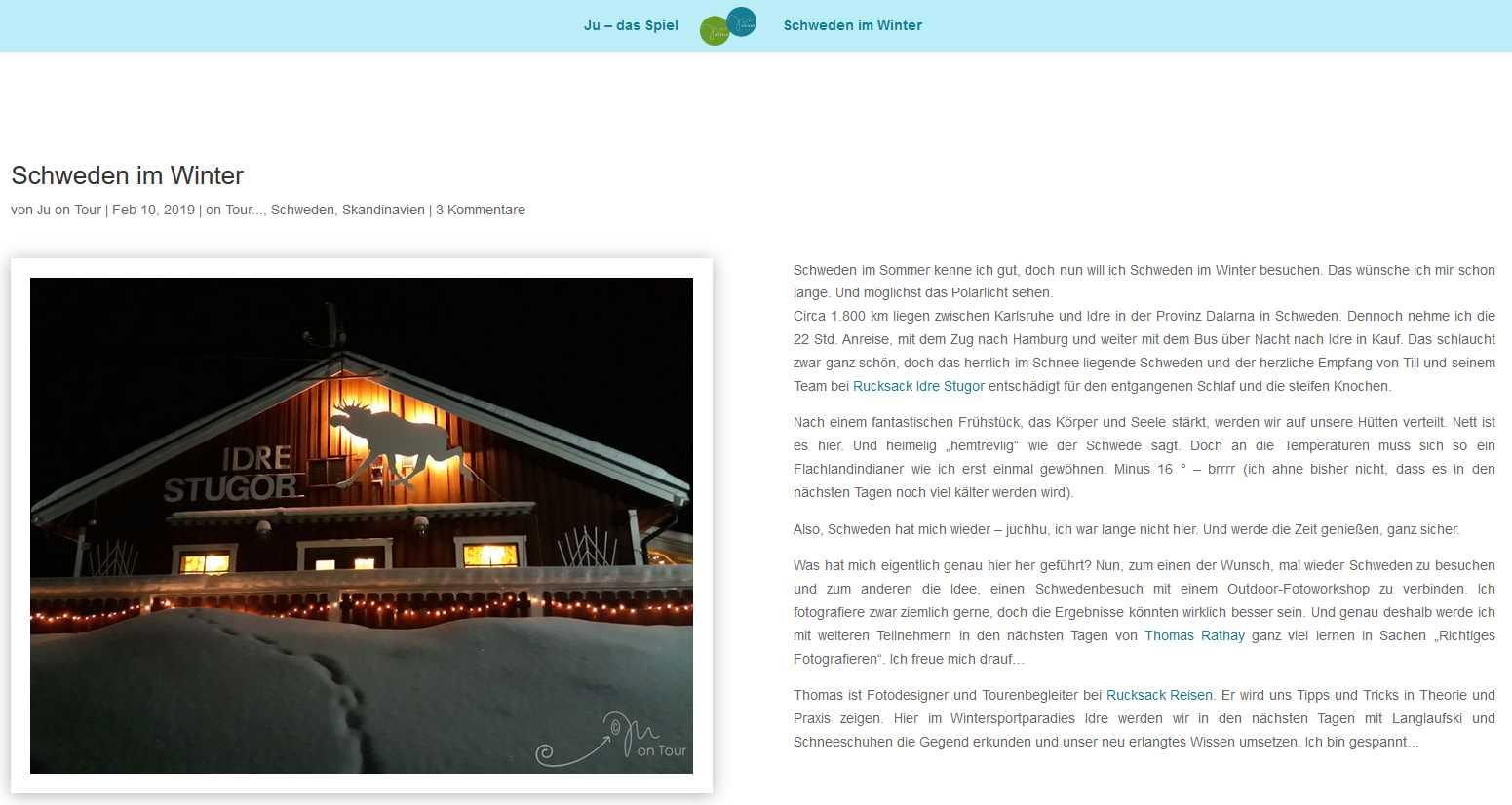 Bericht über den Winterfotokurs mit Thomas Rathay