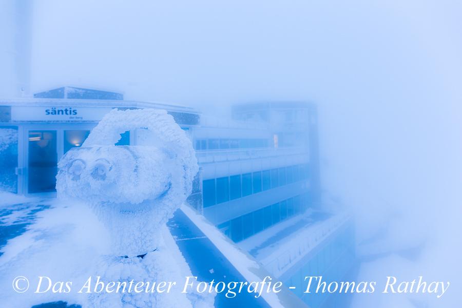 Schneesturm, Säntis, Schweiz