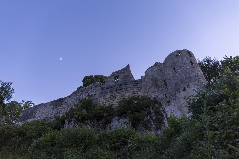 Fotokurs des nachts auf der Burgruine Hohenurach