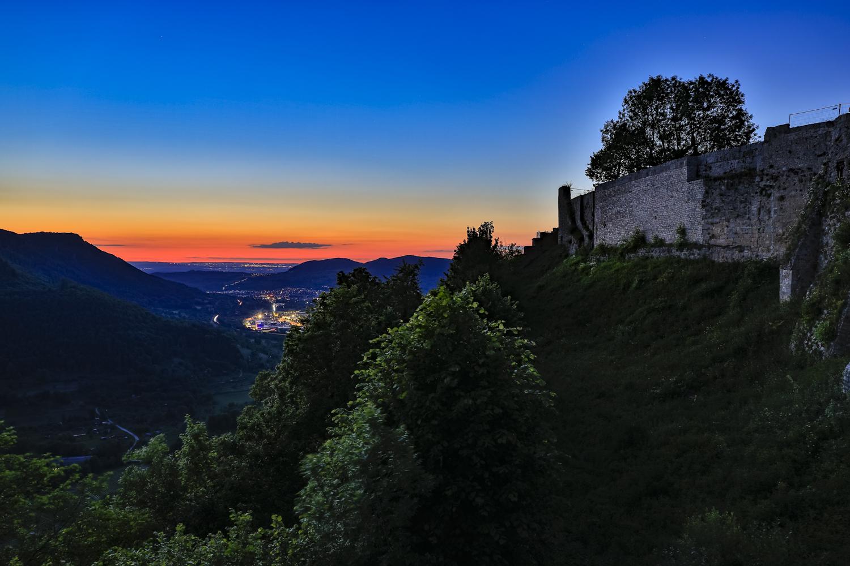Nachts auf der Burgruine Hohenurach
