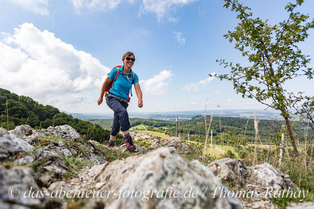 Wanderin auf der schwäbischen Alb