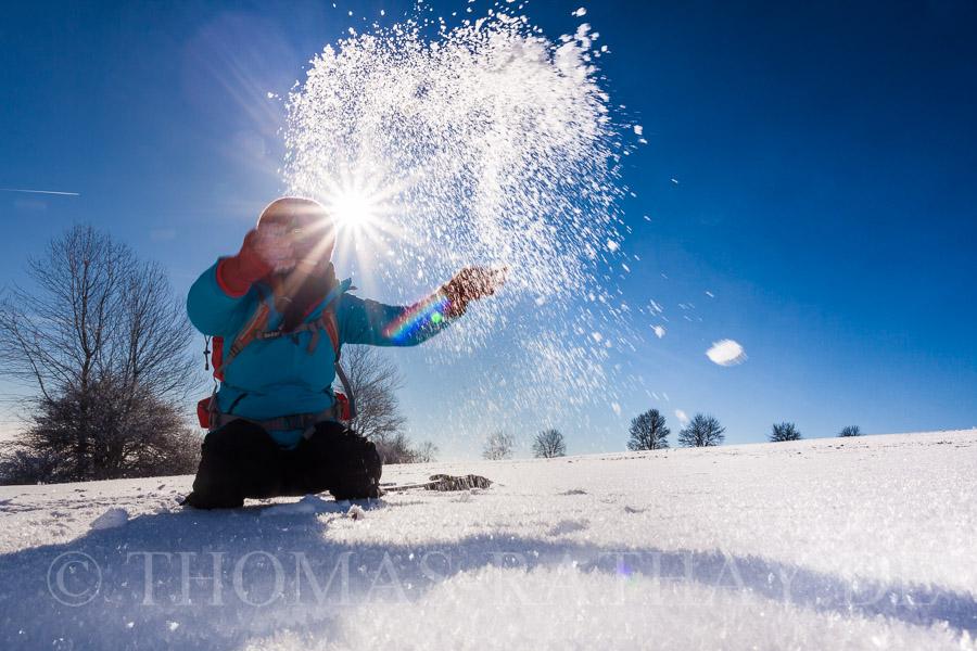 Schneegestöber selbst erstellt