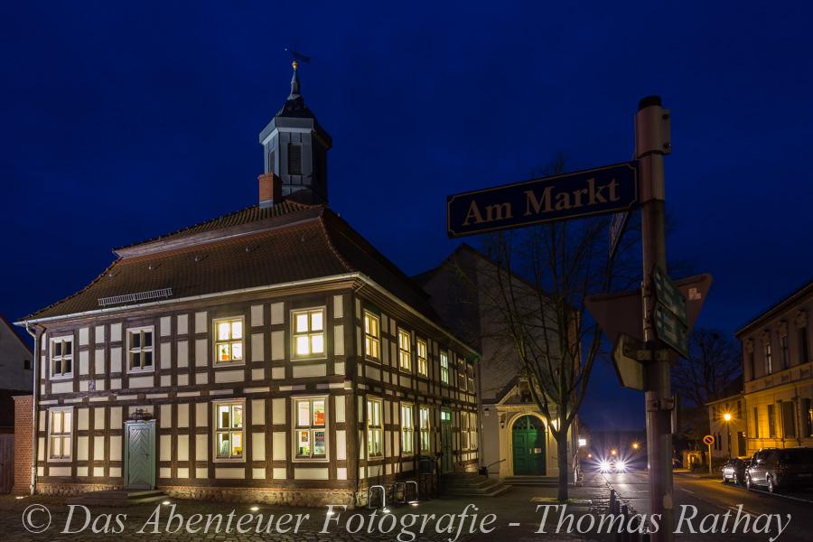 Biesenthal, Rathaus, Blaue Stunde