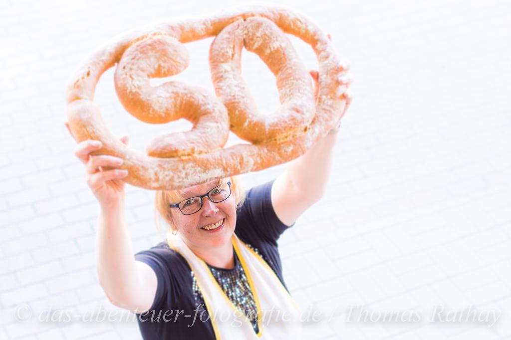 Fototermin zum 50 jährigen Bestehen der Bäckerei Rathay, Inh. Danuta Wieland