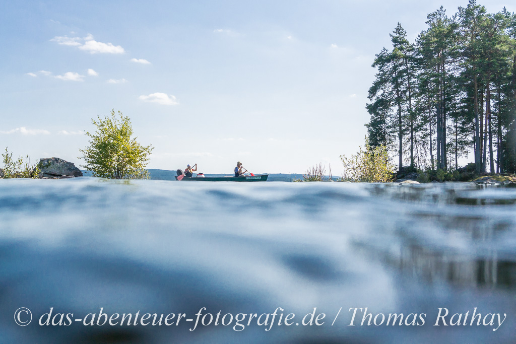 Paddler auf dem Stora Gla See in Värmland