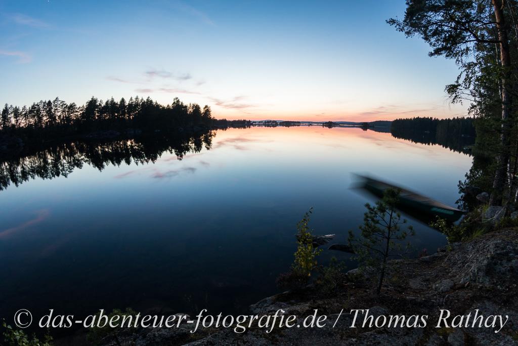 Blaue Stunde im Glaskogen Naturreservat.