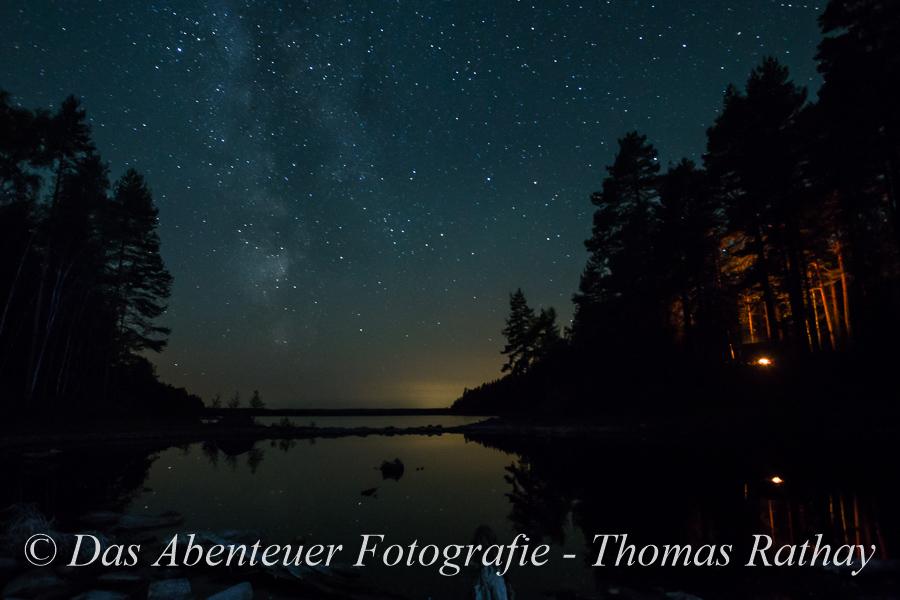Outdoorfotografie, Nacht, Sterne, Schweden