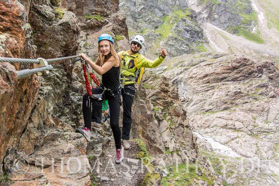 Klettersteig mit Raphael