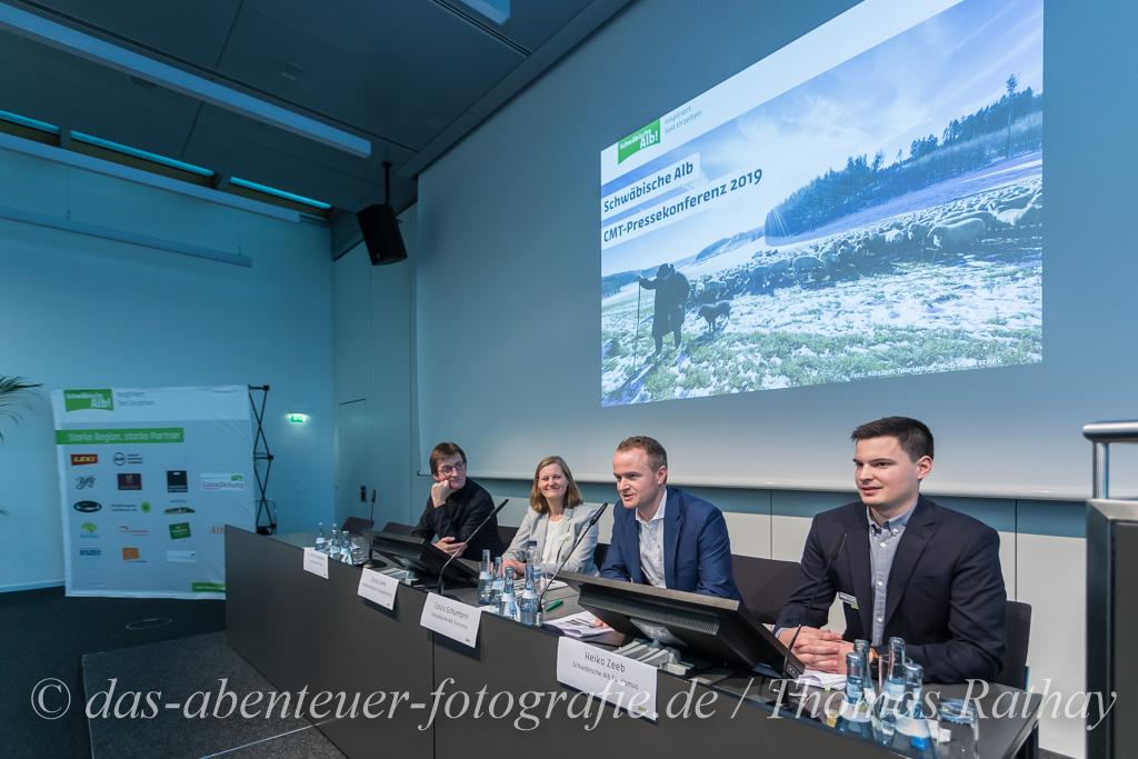 Pressekonferenz des Schwäbische Alb Tourismusverband e.V. auf der CMT 2019 in Stuttgart