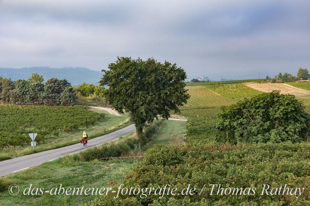 Morgens auf dem Fahrrad