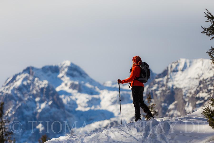Auf Schneeschuhen in den Alpen