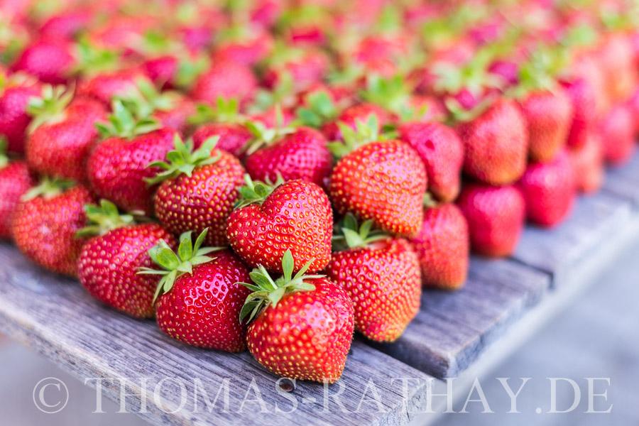 Erdbeeren und Spargel