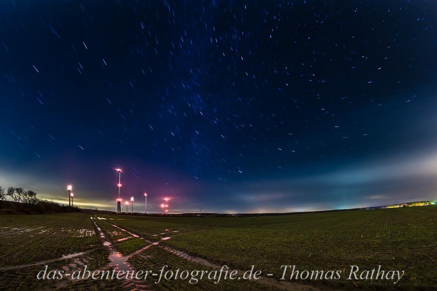 Windrad, Winter, erneuerbare Energien, Sternenhimmel, Nachtfotografie