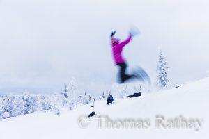 Schneeschuh Flieger