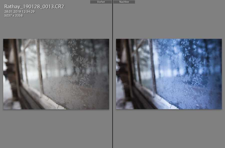 Bearbeitung in Adobe Lightroom
